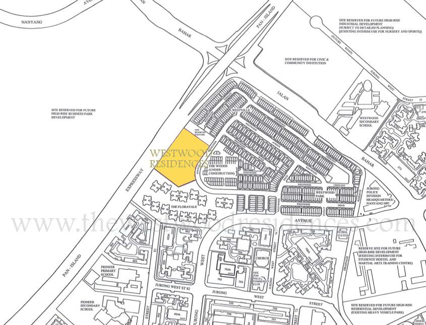 Westwood Residences Location :: Westwood EC Location Plan