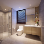 Westwood Residences Showflat . Master Bathroom