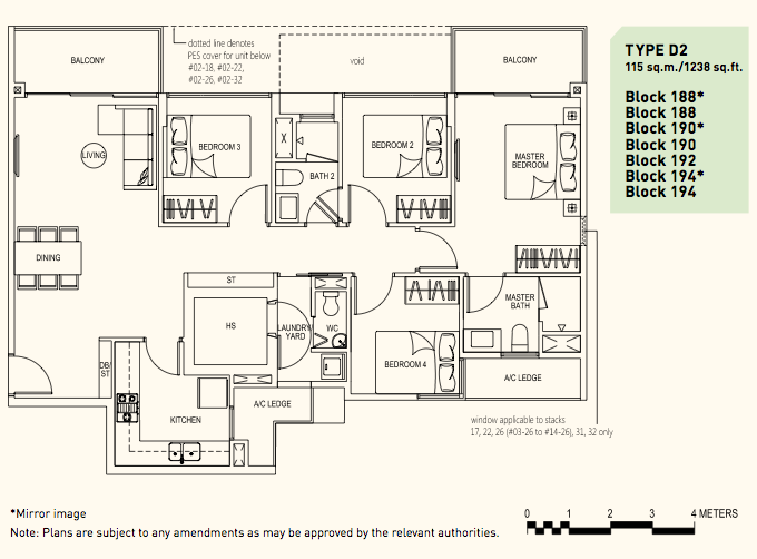 Westwood Residences Floor Plan . 4 Bedroom Premium