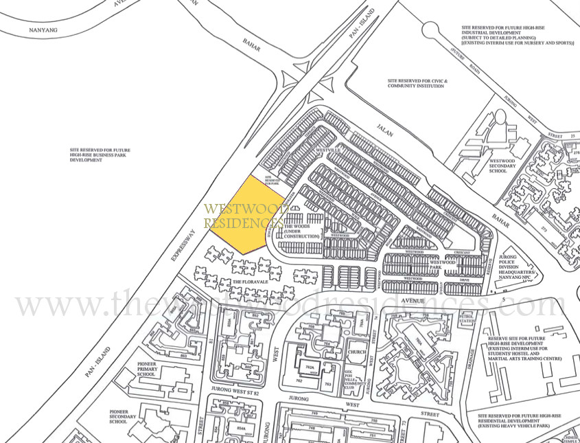 Westwood Residences Location :: Westwood EC Location Plan